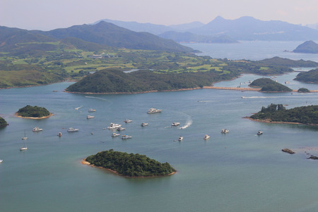 tun: the Tai Tun view of sai kung hong kong Stock Photo