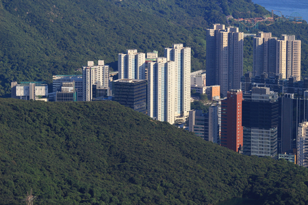 middle class: the Middle class residential building in Hong Kong