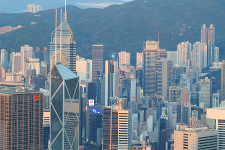 middle class: Middle class residential building in Hong Kong Editorial