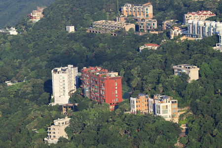 executive apartment: Executive Apartments at Victoria Peak in Hong Kong. Stock Photo