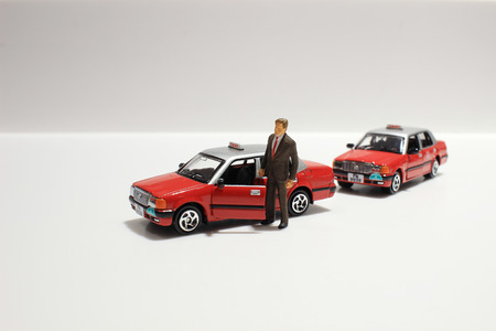 rikscha: Spielzeug, Miniatur-Figuren von Menschen in Kostüme, Ansicht von oben