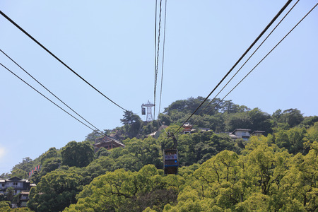 ropeway: the Senkoji Ropeway at japan 2016 Stock Photo