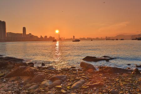 the Shining city, Lei Yue Mun, Hong Kong 版權商用圖片