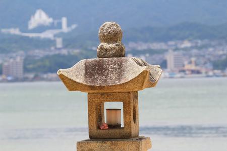the Stone lantern in Japan 2016