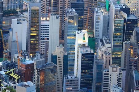 middle class: edificio residencial de clase media en Hong Kong Editorial