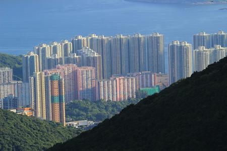 clase media: el edificio residencial de clase media en Hong Kong