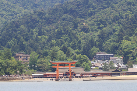 shinto: The famous orange floating shinto gate 2016 Editorial