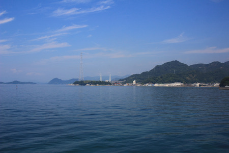 some ships on the inland sea with many islands Stock fotó