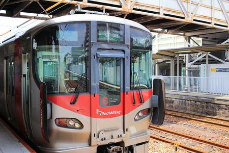 tramway: the red wing  stop at hatsukaichi 2016