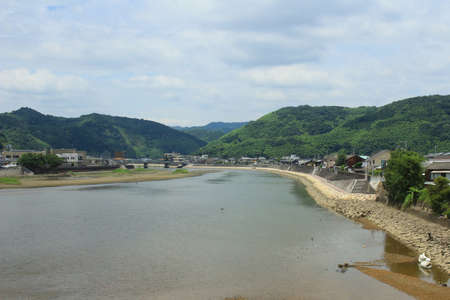 the Nishiki river in Iwakuni, Japan