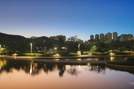 velodrome: the Hong Kong Velodrome park at sunset Stock Photo