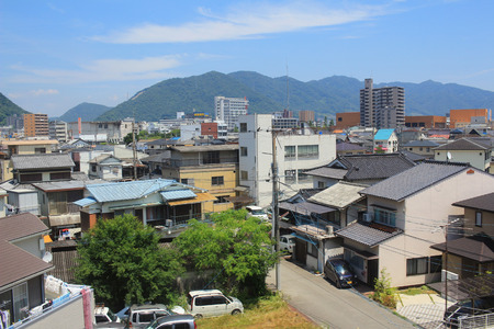the view from the train window, HIROSHIMA
