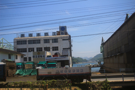 residential settlement: the train view of sanyo main line