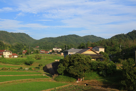 town with traditional architecture is in Hiroshima prefecture