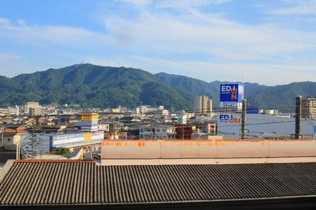 asian house plants: a View of Mihara city at train
