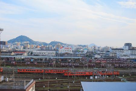 hiroshima: the train dock at HIROSHIMA,  2016