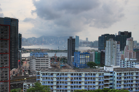 the kwun tong district view Hong kong Editorial