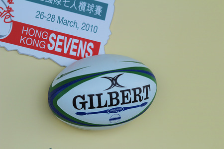 the  Rugby ball with Rugby Sevens etched into it Editöryel