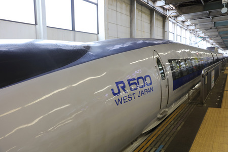 shin: the 500 Series bullet train at Shin Osaka station Editorial