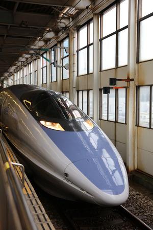 the 500 Series bullet train at Shin Osaka station Editorial