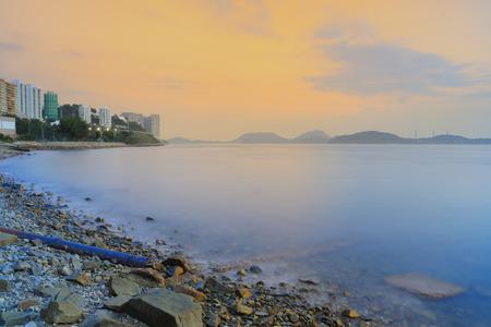 the Amazing sea sunset. at sandy bay
