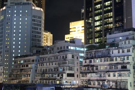 Altes Gebäude Und Modernes Gebäude An Der Causeway Bay, Hong Kong ...