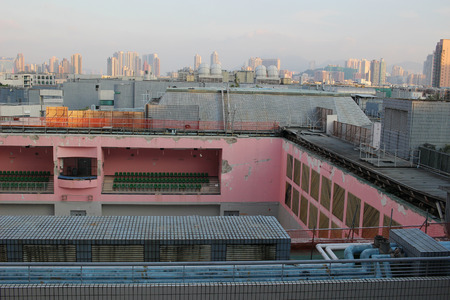 demolish: the roof collapse at City University  hk Stock Photo