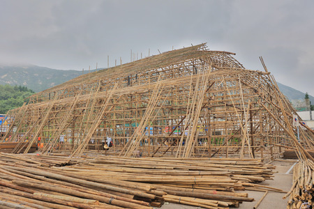 the china bamboo opera building at shek o Stock Photo