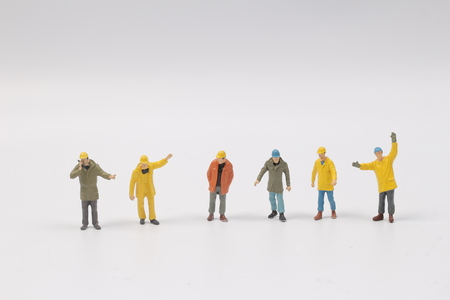 miniature people: the Miniature people engineer worker construction concept