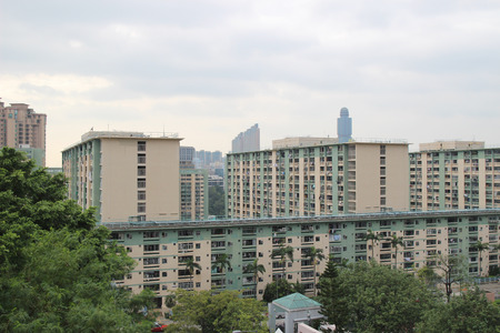 public housing: Oi Man Estate is one of the oldest public housing Stock Photo