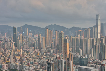 icc: View over Kowloon in Hong Kong from Eagles Nest