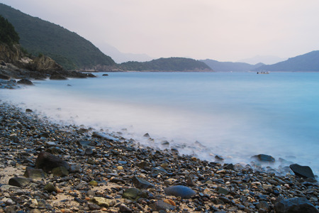 high section: the long exposure  at Port Shelter hk Stock Photo