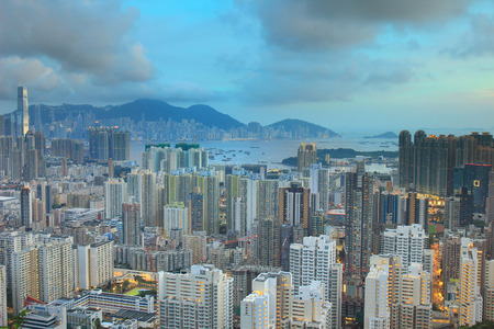 Hong Kong Skyline Kowloon from Eagles Nest 2016