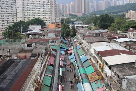 Ngau Chi Wan Market with many booths