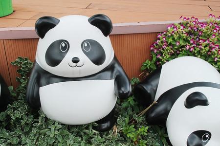 Fake panda  on the garden at 2016