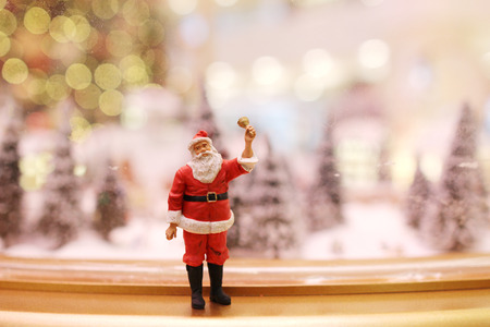 figurine: the Santa Claus christmas decorations at mall