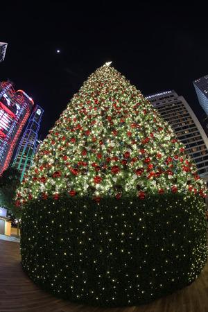 ambience: Hong Kong's romantic Christmas ambience at 2016 Stock Photo