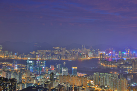 kowloon: beautiful Night View  which seen from Kowloon East District