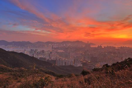 Fei Ngo Shan on top view mountain Kowloon Peak