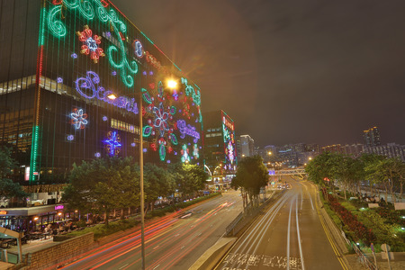 the Tsim Sha Tsui at christmas lighting  2016