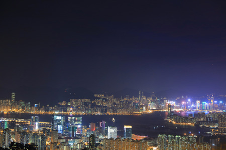 beautiful Night View  which seen from Kowloon East District