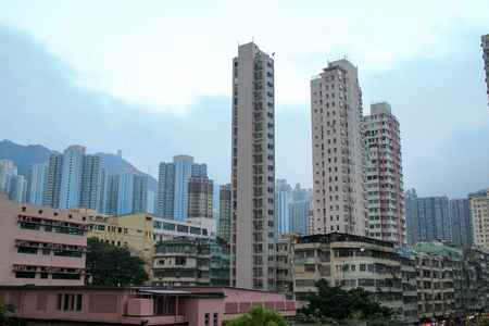 the houses downtown Kowloon with appartments