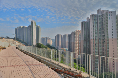 public housing: Government public house residential buildings in Hong Kong Editorial