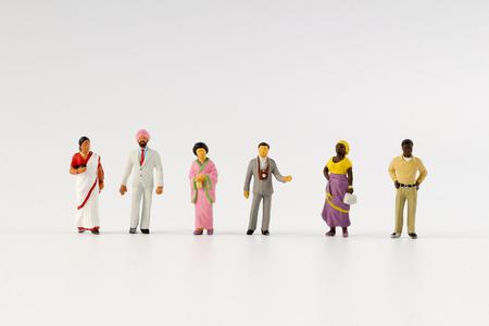 the fun of figure in miniature world Stock Photo