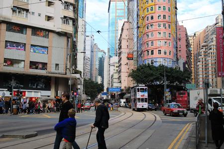 the busy city of Wan Chai Hong Kong 2017