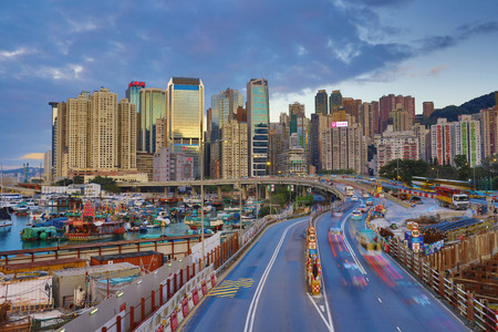 the city highway Causeway Bay, Gloucester Rd Editorial