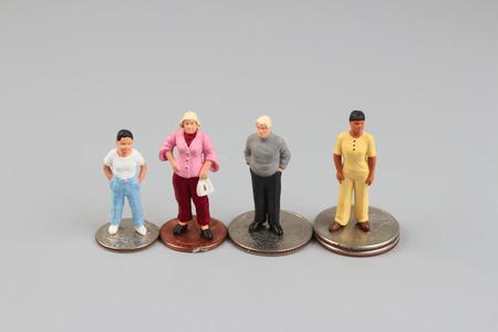 busines: the fun of figure in miniature world Stock Photo