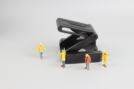 the Group of construction workers repairing tool Stock Photo