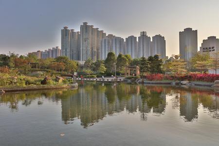 public housing: the Hang Hau Man Kuk Lane Park 2017 Stock Photo