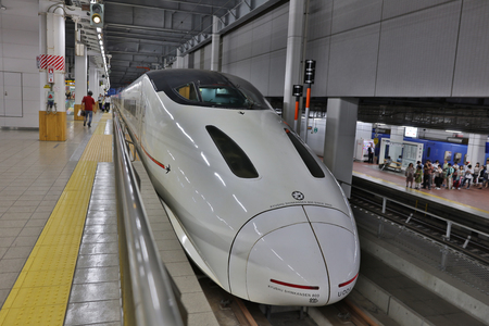 the Kyushu Shinkansen 800 series bullet train Editorial